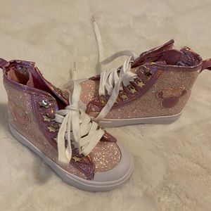 Disney Shoes - New Disney Pink Glitters Toddler Shoes Sneakers 10